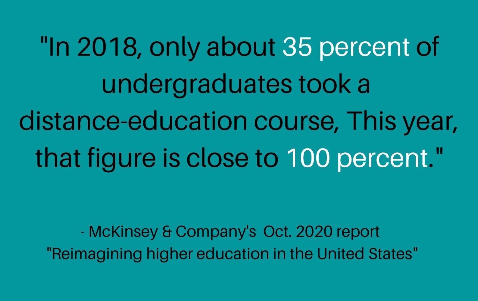McKinsey & Company's Oct 2020 report