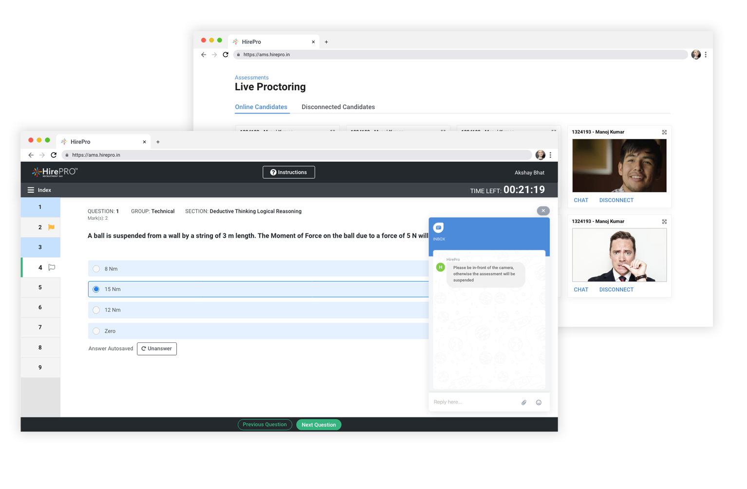 Live-or-automated-proctoring